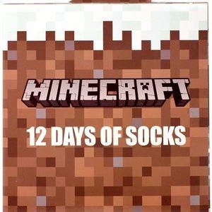 MINECRAFT 12 DAYS OF SOCKS ADVENT CALENDAR KIDS S